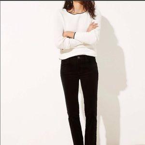 Loft  Charcoal Gray Corduroy Modern Skinny Pants